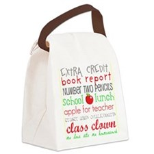 Back to School Subway art Canvas Lunch Bag