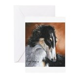Borzoi dawn secord Greeting Cards (20 Pack)