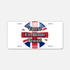 British Aluminum License Plate