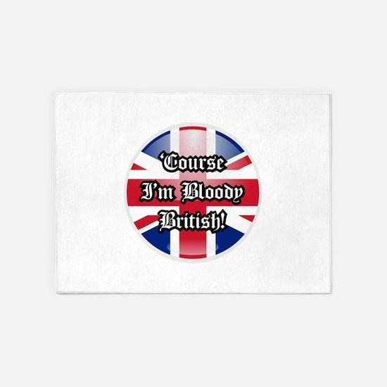 British 5'x7'Area Rug