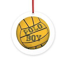 Polo Boy Ornament (Round)