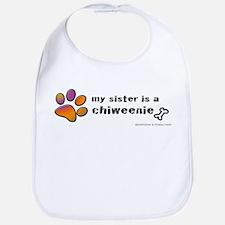 Cool Chiweenie mom Bib