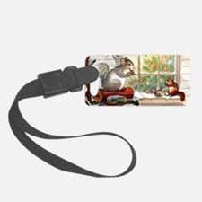 Squirrely Christmas Luggage Tag