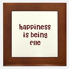 happiness is being Elle Framed Tile