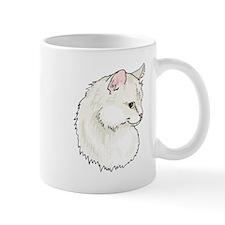 White Cat Mugs