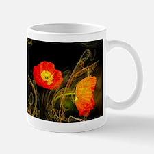 Decorative poppy Mugs
