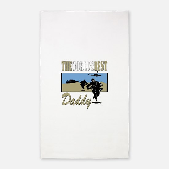 Best Military Daddy copy.png Area Rug
