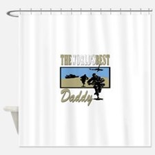 Best Military Daddy copy.png Shower Curtain