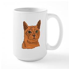 Brown Cat Face Mugs