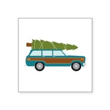 Christmas Tree Station Wagon Car Sticker
