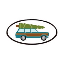 Christmas Tree Station Wagon Car Patches