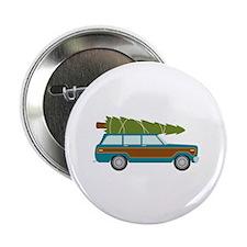 "Christmas Tree Station Wagon Car 2.25"" Button (100"