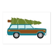 Christmas Tree Station Wagon Car Postcards (Packag