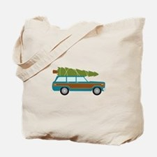 Christmas Tree Station Wagon Car Tote Bag