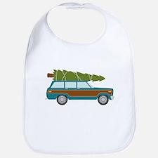 Christmas Tree Station Wagon Car Bib