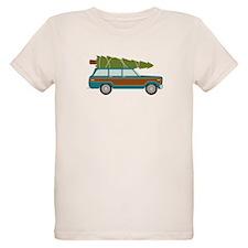 Christmas Tree Station Wagon Car T-Shirt