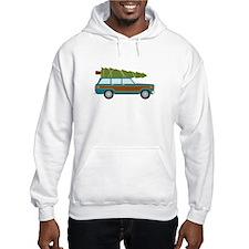 Christmas Tree Station Wagon Car Hoodie