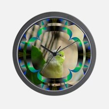 Blue-Winged Parrotlet Wall Clock