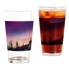 Moonlight Mountain Drive Drinking Glass