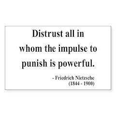 Nietzsche 17 Rectangle Decal