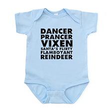Dancer Prancer Vixen Infant Bodysuit