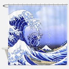 Monogram C Surf's Up! Shower Curtain