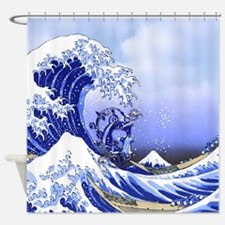 Monogram G Surf's Up! Shower Curtain