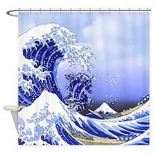 Monogram K Surf's Up! Shower Curtain