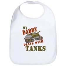 Daddy Plays with Tanks Bib
