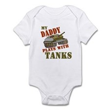 Daddy Plays with Tanks Infant Bodysuit