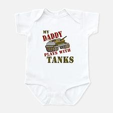 Daddy Plays with Tanks Infant Bodysuit