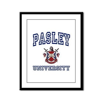 PASLEY University Framed Panel Print