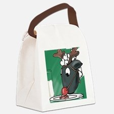 Red Nosed Helper Canvas Lunch Bag