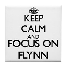Keep calm and Focus on Flynn Tile Coaster