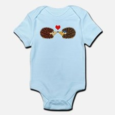 Cuddley Hedgehog Couple with Heart Body Suit