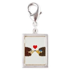 Cuddley Hedgehog Couple with Heart Charms