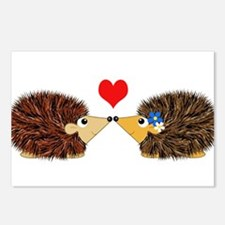 Cuddley Hedgehog Couple w Postcards (Package of 8)