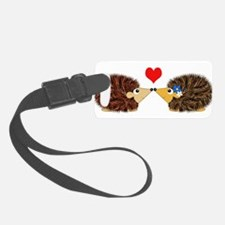 Cuddley Hedgehog Couple with Hea Luggage Tag