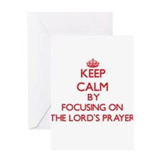 Keep Calm by focusing on The Lord'S Greeting Cards