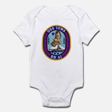 USS IOWA Infant Bodysuit