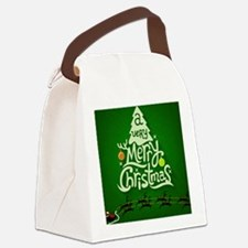 Chritsmas Tree Canvas Lunch Bag