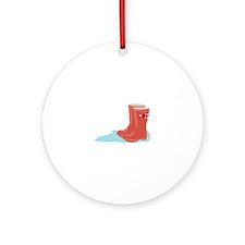 Rainboots Ornament (Round)