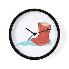 Rainboots Wall Clock