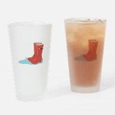 Rainboots Drinking Glass