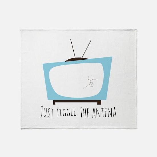 Jiggle Antena Throw Blanket