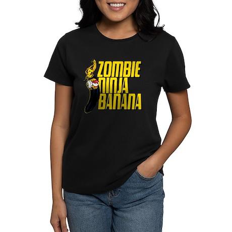 Zombie Ninja Banana Women's Dark T-Shirt