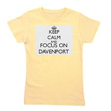 Keep calm and Focus on Davenport Girl's Tee
