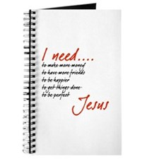 I Need Jesus Black and Red Journal
