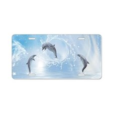 The Dreams Of Dolphins Aluminum License Plate