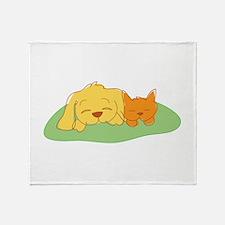 Cat & Dog Throw Blanket